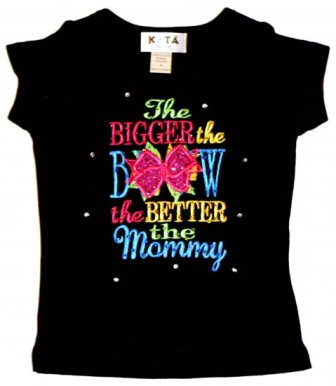 Bigger the Bow the Better the Mommy Tee