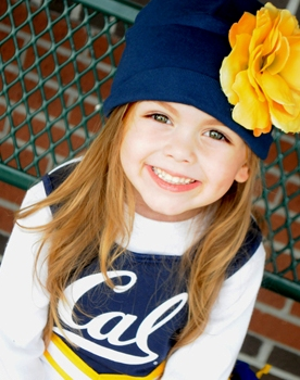 Custom Sports Team Flower Hat-football, baseball, sports, basketball, team spirit, infant, baby girl, boutique