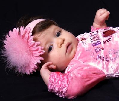 Pink Fuzzy Flowerband-
