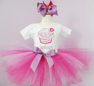 Cupcake Sweetie Birthday Tutu Set