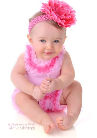 Candy Pink Peony Blossom Baby Headband-pink, baby, boutique, infant, flower headband