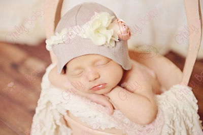 Newborn Cloche Vintage Flower Hat