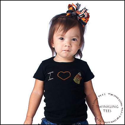 I Love Candy Corn Rhinestone Bling Top-halloween, black, infant, baby girl, boutique, clothing, tee shirt