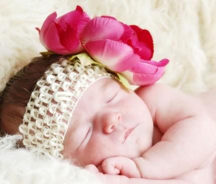 Raspberry Peony Flowerband-