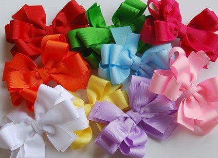 Assorted Color Hair Bow Set-rainbow color bow set, boutique hair bows, starter set