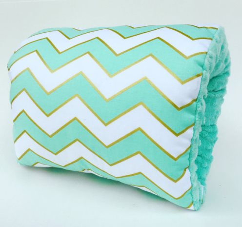 NURSIE® ORIGINAL Mint Glitz Nursie Arm Breastfeeding Pillow-mint, green, Nursie, Nursing Arm Pillow, Breastfeeding Pillow, Support Pillow, nursing, mom, baby, gold, chevron, trendy