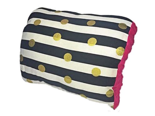 Broadway Nursie Arm Breastfeeding Pillow-Broadway Nursie, Black & White Stripe , Gold Polkadots, Nursing Pillow, Breastfeeding Pillow, Arm Pillow, Travel Pillow, Nursie, hot pink, black stripes, breastfeeding mom