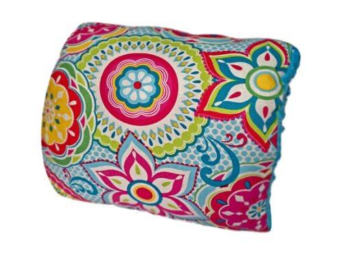 Kaleidoscope Nursie Arm Breastfeeding Pillow-colorful, blue, floral, Nursie, Bright floral, nursing pillow, Girly, Breastfeeding pillow, Arm Pillow, Support Pillow, Travel Pillow, nursing pillow