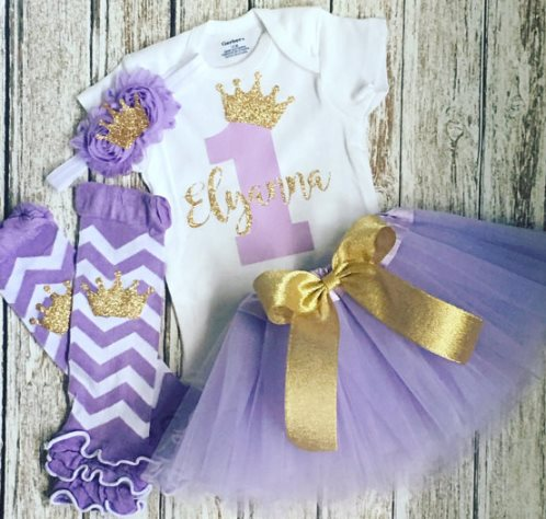 Baby Girls First Birthday Lavender & Gold Glitter Princess Tutu Outfit Set-Girls First Birthday Outfit, Princess Sophia, Lavender Gold Birthday crown , Baby Girls 1rst birthday, Cake Smash Set, Tutu, Hairbow, 1rst, first birthday, birthday party, baby girl, lavender birthday