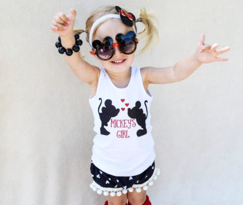 Baby Girl Miss Mouse Pom Pom Boutique Shorts-Mouse pom pom shorts, mickey mouse shorts, Minnie mouse shorts, child leggings, Disney leggings, Disney shorts, baby bloomers, diaper cover
