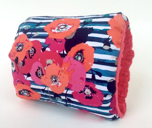 Uptown Girl Nursie Arm Breastfeeding Pillow-Nursie, Floral, Stipe ,Arm Nursing Pillow, Breastfeeding Pillow, Nursing Arm Pillow, Support Pillow, Travel Pillow, orange, pink, striped, pillow