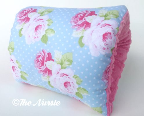 NURSIE® ORIGINAL Southern Belle Nursie Arm Breastfeeding Pillow-baby blue, light pink, Nursie, Shabby Chic Nursing Arm Pillow, Baby Blue and Pink Breastfeeding Pillow, Support Pillow, nursing pillow