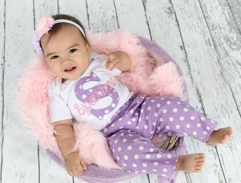 Lavender & Pink Personalized 3pc. Pants Outfit Set-Personalized Baby Girl Clothes, Newborn Girl, Lavender Pink, New Baby Gift Set, pants outfit, easter, spring, newborn, infant, babym girl, clothing, personalized