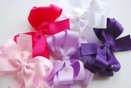 What A Girl Needs Set of 5 Hair Bows-hairbow, hair, bow, gift set