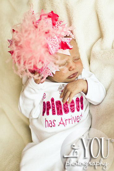 The Princess Has Arrived Bling Infant Gown-princess, crown, tiara, rhinestone, bling, sac, sack, take me home, newborn, pink