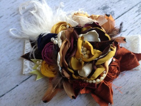 Natures Harvest Vintage Flower Headband