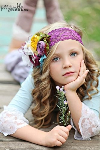 Vintage Plum Flower Headband