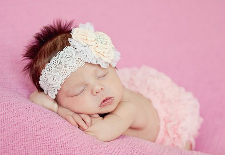 Peach Baby Flower Headband-cream, peach, baby, flower, headband, holiday, Christening, Baptism, spring