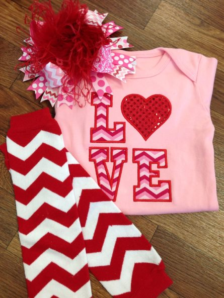 Love Chevron Sequin Heart Valentine Onesie-newborn, infant, baby, girl, boutique, shirt, onesie, outfit, set, clothing, leg warmers, over the top, hairbow