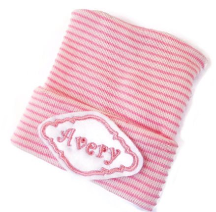 Pink Personalized Newborn Hospital Hat-pink, newborn, infant, baby, girl, personalized, hospital, hat