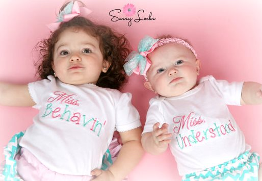 Big Little Sister Miss Behavin & Miss Understood Outfit Sets-big sister, little sister, outfit set, matching, outfits, boutique clothing, newborn, toddler, infant, baby girl