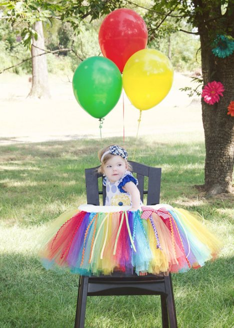 Rainbow First Birthday Party High Chair Banner-colorful, rainbow, birthday party, Rainbow High Chair Tutu, Rainbow Birthday Party Decor, Carnival Birthday, Circus Birthday, Rainbow High Chair Banner, birthday girl, 1st birthday, first, birthday, party