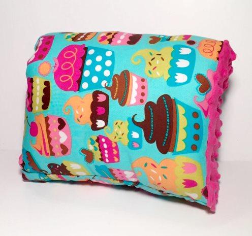 Sweet Treats Cupcake Nursie Arm Breastfeeding Pillow-colorful, cupcake, cupcakes, Nursie Pillow, Blue,  Pink Breastfeeding Pillow, Arm Pillow, Support Pillow, Travel Pillow, Michael Miller Fabric