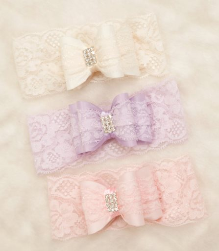 Beautiful Double Bow Infant Toddler Lace Bow Headband with Rhinestone Center-pink, lavender, ivory, light, gray, grey, black, navy, burgundy, baby, blue, off white, gold, infant, baby, girl, boutique, newborn, headband, dressy, fancy