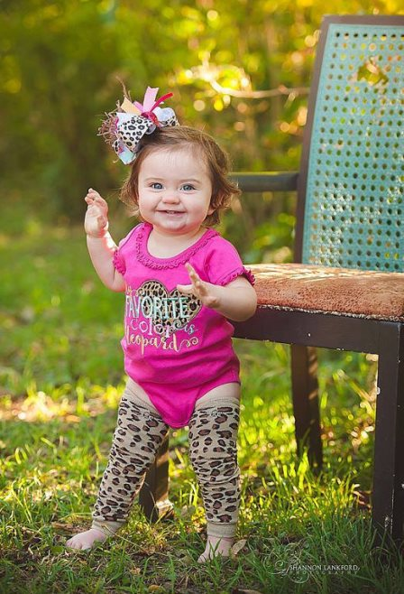 My Favorite Color is Leopard Onesie, Leggings & Hair Bow Outfit Set-leopard, hot pink, pink, onesie, outfit, set, animal, print, outfit, set, boutique, clothing, infant, baby, girl