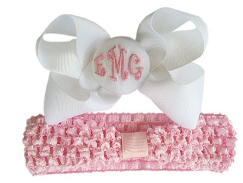 TWINS Newborn Hospital Personalized Monogram Hat Set-pink, hospital hat, hats, newborn, infant, baby, girl, boutique, monogram, monogrammed, personalized, baby girl, twin hats
