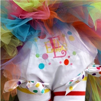 Birthday Dots Bow Diaper Bloomers