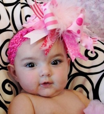 Light Pink & Hot Pink - Over-the-Top Hair Bow Headband-pink, infant, baby, headband, boutique hair bow