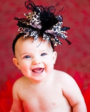 Black & Brown Leopard Over The Top Hair Bow Headband