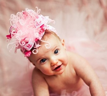 Bunny Rabbits Over The Top Hair Bow Headband-Easter, Pink, infant, baby girl, boutique, hairbow, headband