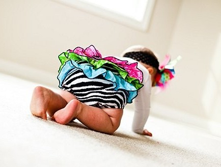Color Splash Zebra Ruffle Bloomers
