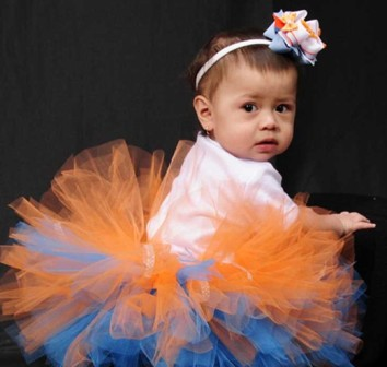 Goldfish First Birthday Tutu Set-turquoise, orange, infant, baby girl, toddler, birthday, party, tutu outfit, set, boutique