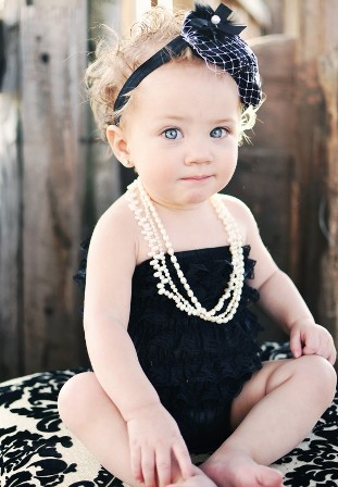 Black Lace Petti Romper