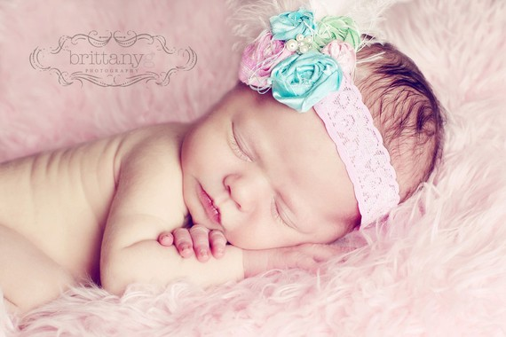 Pastel Dream Rosette Lace Flower Headband