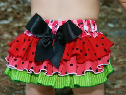 Watermelon Picnic Ruffle Bloomers