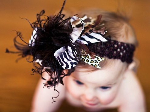 Wild Animal Over the Top Hair Bow Headband
