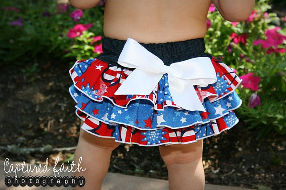 July 4th Patriotic Ruffle Bloomers