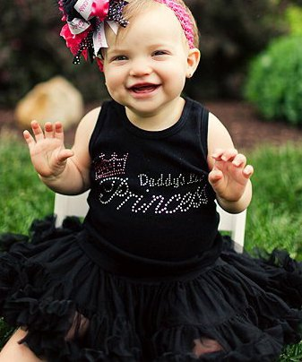 Daddy's Lil Princess Bling Tank Top-black, pink, rhinestones, bling, shirt, infant, baby girl, boutique clothing