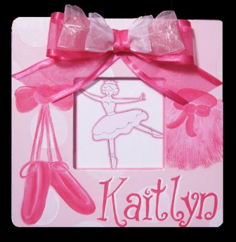 Girls Hand Painted Ballet Picture Frame-pink, ballerina, photo frame, boutique