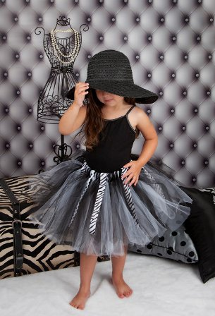 Black & White Zebralicious Ribbon Tutu