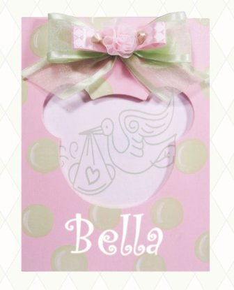 Girls Hand Painted Personalized Polka Dot Baby Frame-pastel, pink, green, baby girl, photo frame, infant, boutique