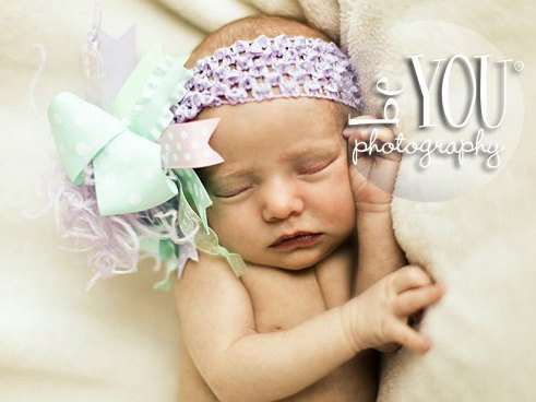 Pastel Sweetie - Over-the-Top Hair Bow Headband-aqua, light pink, pink, lavender, purple, lilac