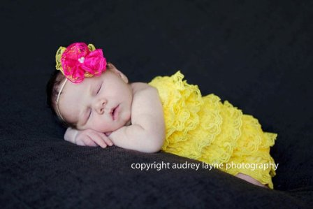 Yellow Lace Petti Romper-infant, baby girl, boutique, newborn, ruffle, pettiromper