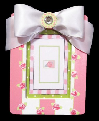 Girls Rosebud Handpainted Picture Frame