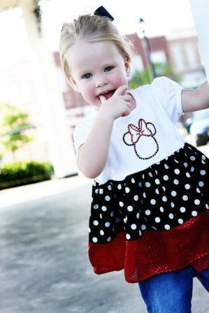 Minnie Mouse Ruffle Capri Outfit Set