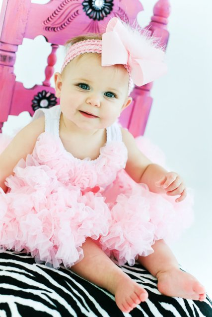 Light Pink Marabou Hair Bow Headband